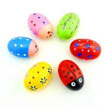 Детское музыкальное яйцо iwish 70 мм деревянные игрушки для