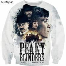 Underworld Drama Peaky Blinders 3D Print Hiphop Sweatshirts Spring Men/women Casual Streetwear Hoodies Boys White Coat Clothes