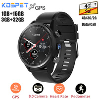 Kospet Hope 4G Smartwatch Android 7.1 GPS 3G+32G/1G+16G IP67 Waterproof Phone Watch MTK6739 Quad Core 8Mp Camera Sport Men Watch