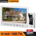 HomeFong Video Intercom Deurbel 1200TVL IR Camera HD Monitor Met 16G Geheugenkaart Ondersteuning Unlock CCTV videocitofono 10 pollici