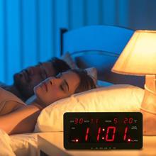 1pcs Electronic Voice Music Perpetual Calendar Digital Display Temperature Alarm Clock Home Decor