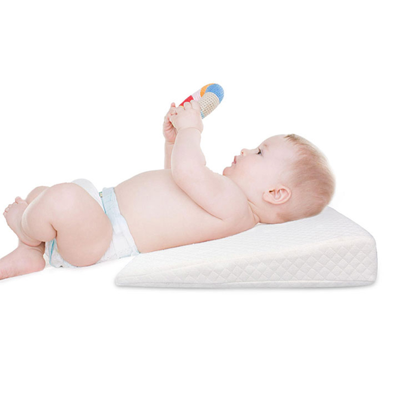 Newborn Baby Sleep Pillow Anti Baby Spit Milk Crib Cot Sleep Positioning Wedge Pillow Memory Foam Infant Nursing Pillow For Baby