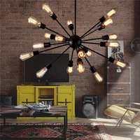 Industrial Ceiling Chandelie Vintage Retro Style Iron 18 Lampholder Ceiling Chandelier Pendant Lampshade Droplight Pendant
