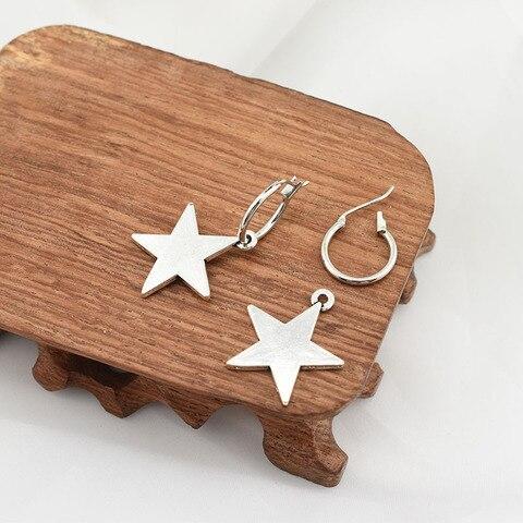 Купить серьги кольца со звездами маленькие серьги обручи для женщин