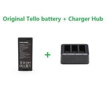 Original DJI Tello แบตเตอรี่เที่ยวบิน & 3in1 Charger Hub 1100 mAh 3.8 V แบตเตอรี่ชาร์จ Hub สำหรับ DJI Tello Drone อุปกรณ์เสริม