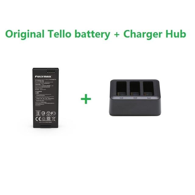 Originale DJI Tello Batteria di Volo e 3in1 Hub Caricatore 1100 mAh 3.8 V Batterie di Ricarica Hub Per DJI Tello Drone accessori
