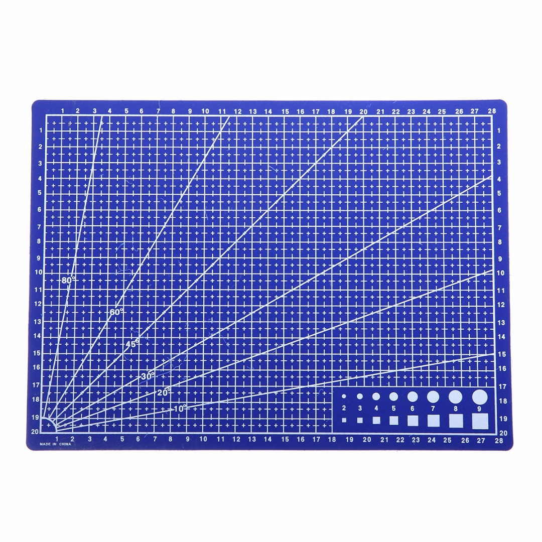 A4 Grid Lines Self Healing Cutting Mat Craft Card Fabric Leather Paper Board For Model Making And Other Precise Jobs image