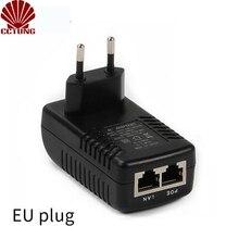 DC12V 1A POE (Мощность Over Ethernet) инжектор 12 Вт штепсельная вилка коммутатор питания через Ethernet для CCTV POE ip-камера Мощность адаптер ЕС/США/AU/UK на выбор доступны вилки