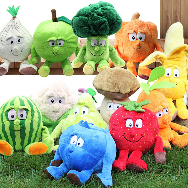 Stuffed-Doll Plush-Toy Vegetables Fruit YJS Soft Children Cute Gift Kids for Dropship