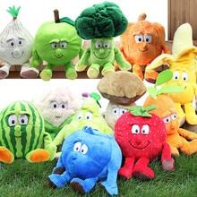 Несколько стилей, Избранные Новые фрукты, овощи, капуста, ананас, голубика, набитая плюшевая кукла, игрушка для детей, Хорватия