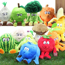 Multiple Styles Selected New Fruits Vegetables Cabbage Pineapple Blueberries Stuffed Plush Doll Toy for Croatia Kids Children