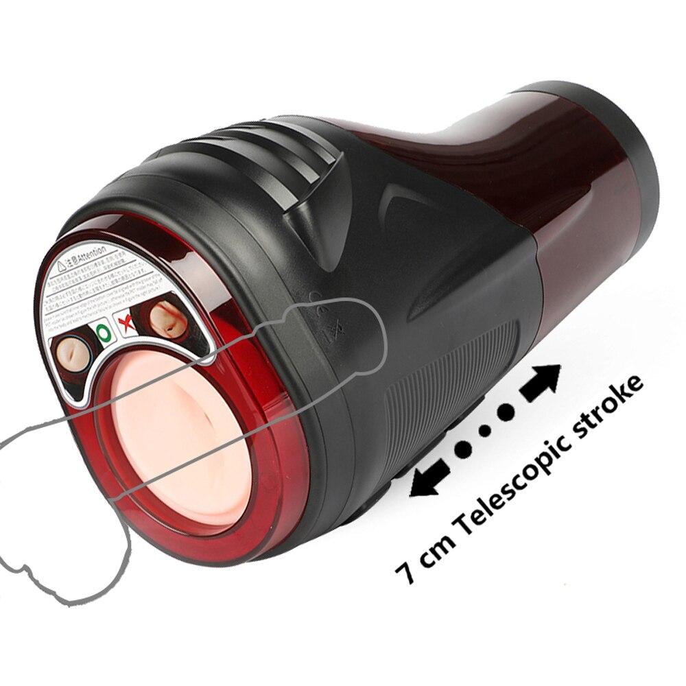 Automatic Telescopic Suck Masturbator For Men Vagina Real Pussy Vibrating Masturbation Cup Penis Exercise Vibrator Sex