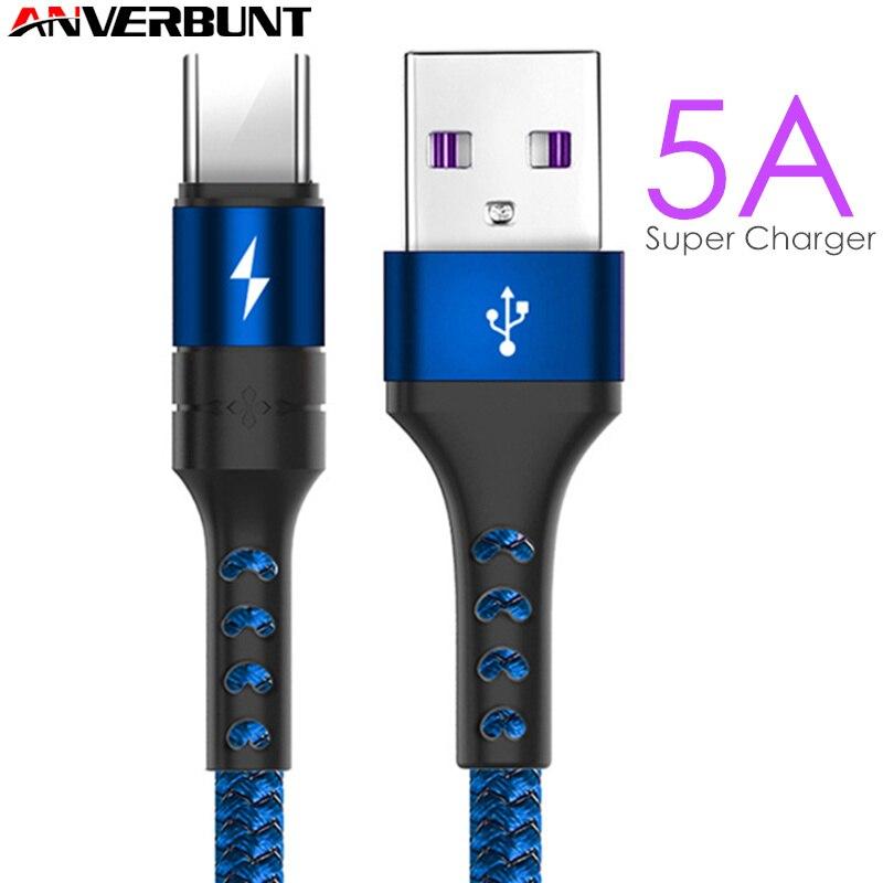 5А супер зарядный кабель типа C Mate 20 P20 быстрое зарядное устройство USB кабель провод USB Тип C кабель для Huawei Mate 20 P20 Pro Honor 10 V10 кабель