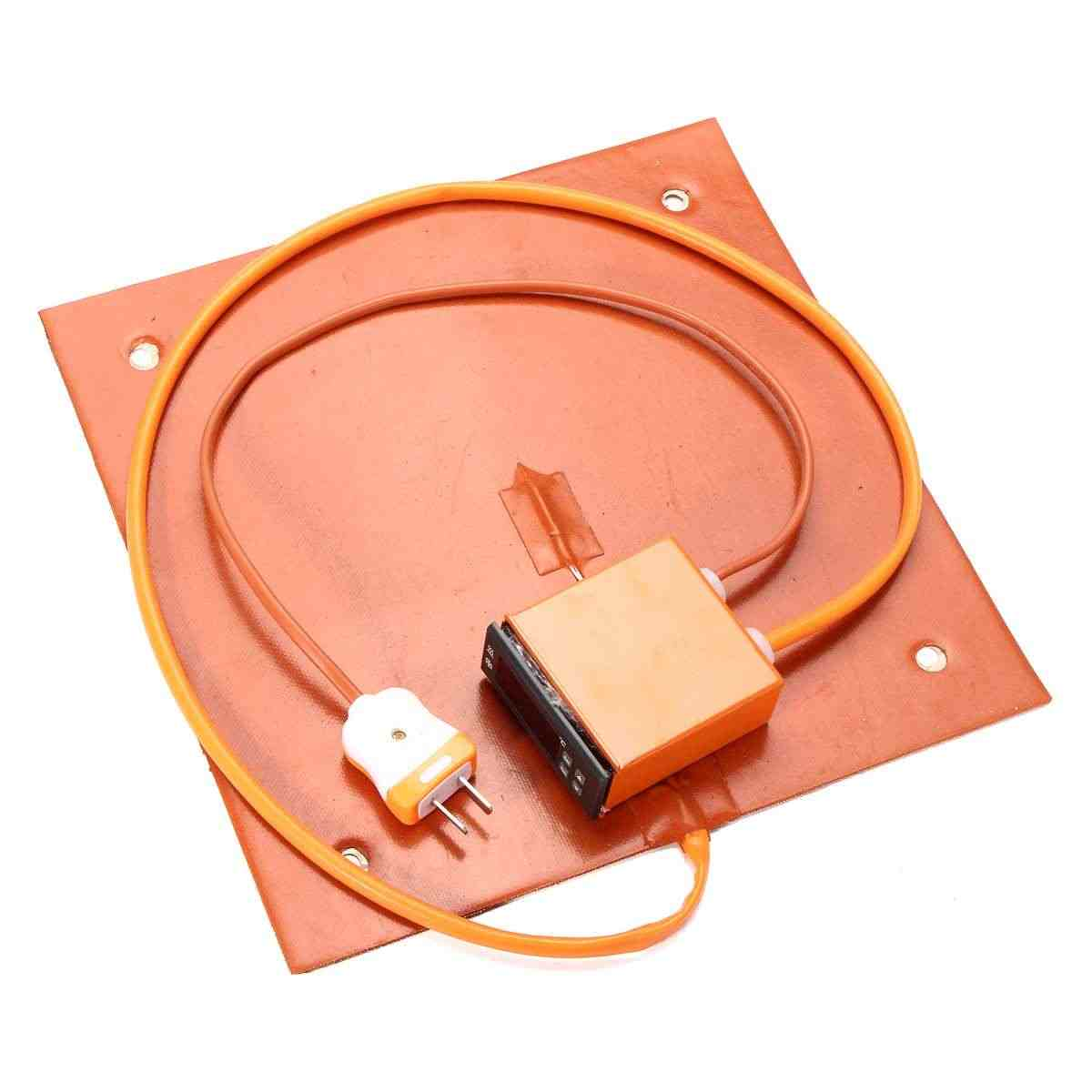 310x310mm 750 w atualizar aquecedor de silicone com termostato lcd controlador digital silicone almofada aquecimento elétrico para CR-10 impressora 3d