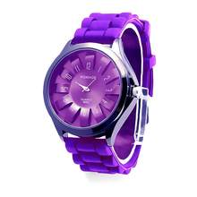 Silicone Jelly Band Flower Dial Sports Style Watch Men Women Quartz Wrist Watches 2018(China)