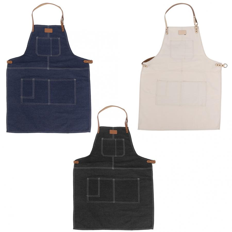 Kitchen Bathroom Apron Nordis Style Fashionable Garden Kitchen Apron Waitresses Work Apron Uniform For Cooking Baking Restaurant Latest Technology Household Cleaning Protections