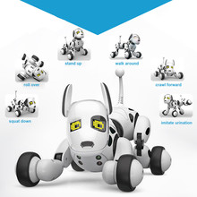 DIMEI 9007A Smart Robot Dog 2.4G Wireless Remote Control Kids Toy Intelligent Talking Robot Dog Toy Electronic Pet Birthday Gift 2 4g wireless remote control intelligent robot dog children s smart toys talking dog robot electronic pet toy birthday gift