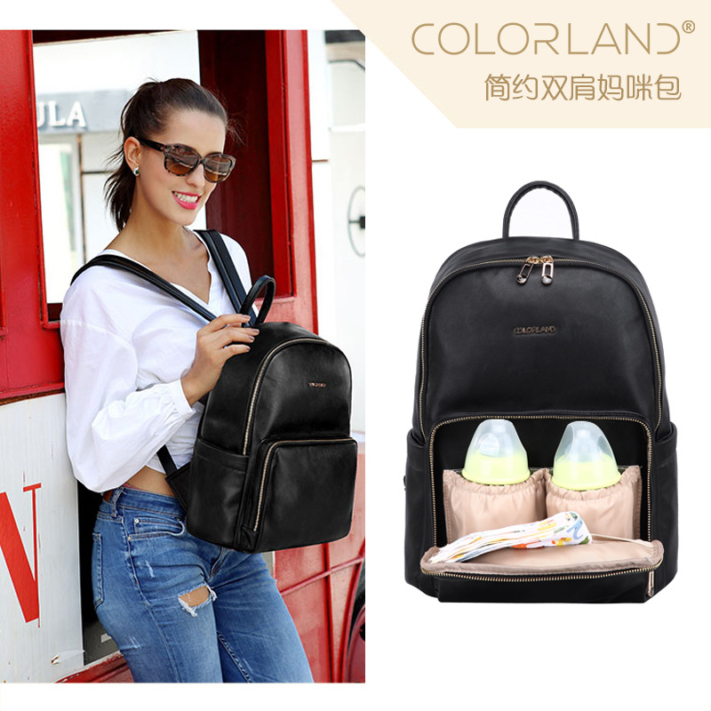 2019 New Fashion Mommy Bags Shoulder Bags Mummy Diaper Bags Backpacks PU Material Waterproof and Durable