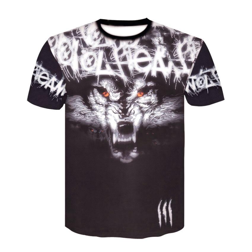 2019 Newest Harajuku Wolf 3D Print Cool   T  -  shirt   Men Women Short Sleeve Summer Tops Tees   T     shirt   Fashion   Shirt   Men Tshirt M-4XL