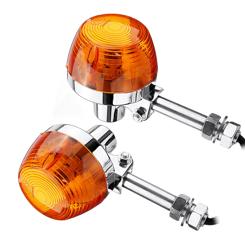 1 Pair For Honda C70 CT70 CT90 XL100 CB350 Motorcycle Amber Turn Signal Light