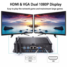 Fanless Industrial PC,Mini Computer,Windows 10 Pro/Linux ,Intel Core I5 3317U,[HUNSN MA03I],(1VGA/1HD/4USB2.0/4USB3.0/2LAN)