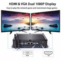 Oferta Sin ventilador PC Industrial Mini computadora Windows 10 Pro Linux Intel Core I5 3317U hunsn