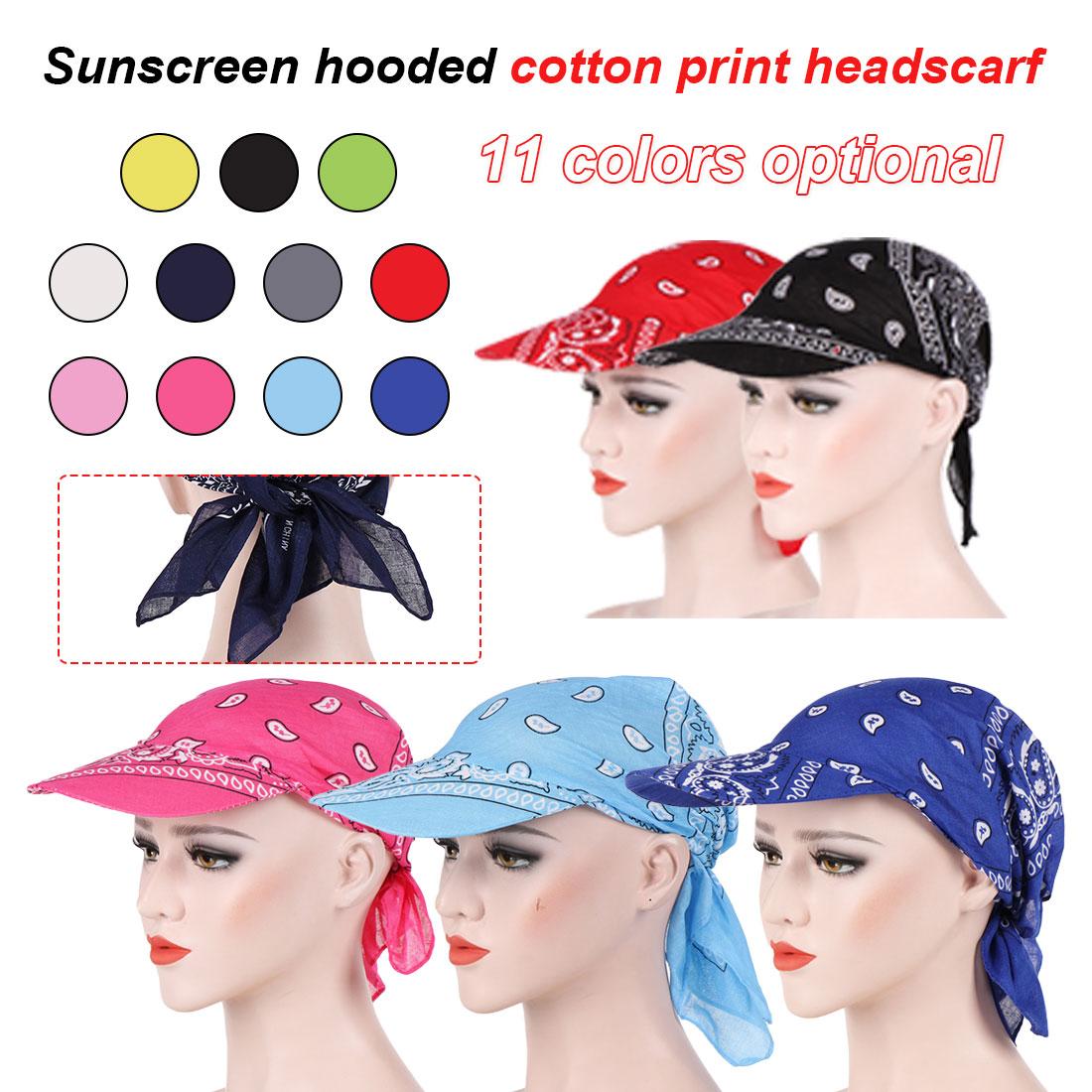 Fashion Outdoor Rider Hat Women And Men Scarf Wrap Sun Hat Amoeba Printed Headwear Cap Visors