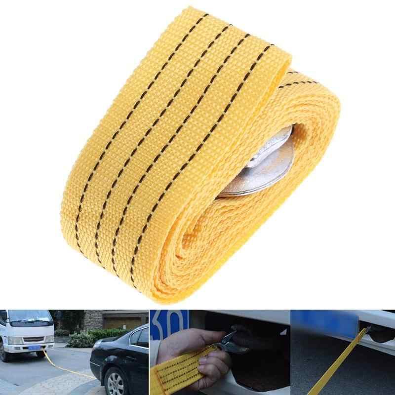 3Ton 4m araba çekme halatı Tow kablo askı çekme çekme halatı için kanca ile otomobil açık acil