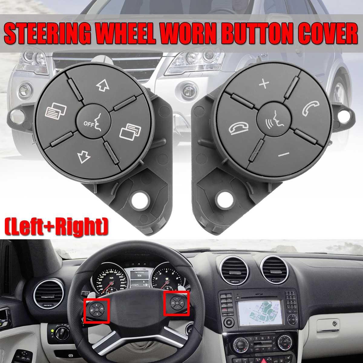 Une paire W164 W251 universel volant de voiture usé bouton interrupteur de commande couvercle pour Mercedes pour W164 ML GL W251 RClass 2010-2012