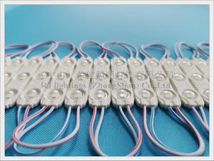 Image 2 - injection super LED module with lens SMD 2835 DC12V 3 led 1.2W 140lm IP65 67mm*14mm aluminum PCB CE factory price high bright
