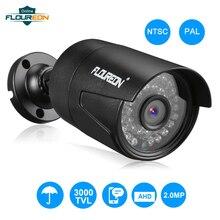 새로운 아날로그 야외 카메라 1080 p 2.0mp 3000tvl ntsc/pal 방수 cctv ahd dvr 카메라 나이트 비전 보안 감시 카메라