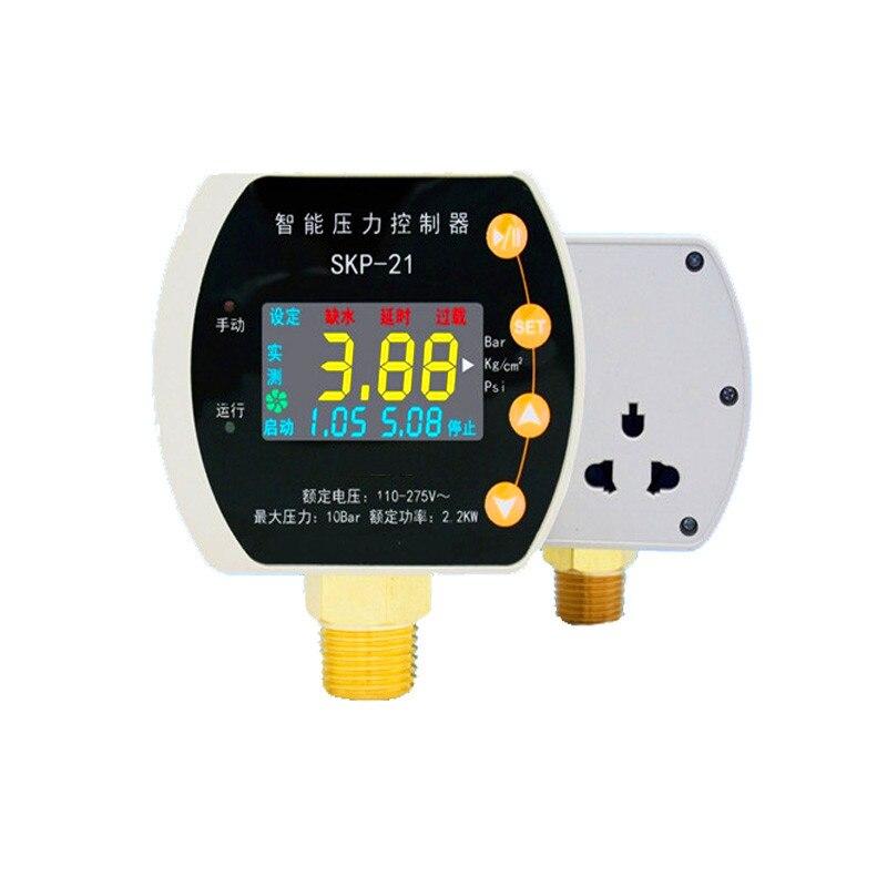 SKP-21 Water Pump Pressure Controller Automatic Intelligent LCD Display Adjustable Pressure Switch NewSKP-21 Water Pump Pressure Controller Automatic Intelligent LCD Display Adjustable Pressure Switch New