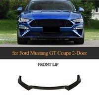 Front Lip For Ford Mustang 2 Door 2018 2019 Carbon Fiber Bumper Lip Spoiler