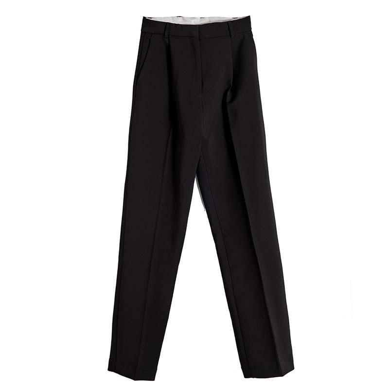 Otoño Grandes Moda 2018 Del navy Cintura La Pants Cremallera Mujeres white Pants Pants Tobillo Twotwinstyle Para Black De Con Casual Tallas Alta Longitud Bolsillos Harem Pantalones UH7waCqT