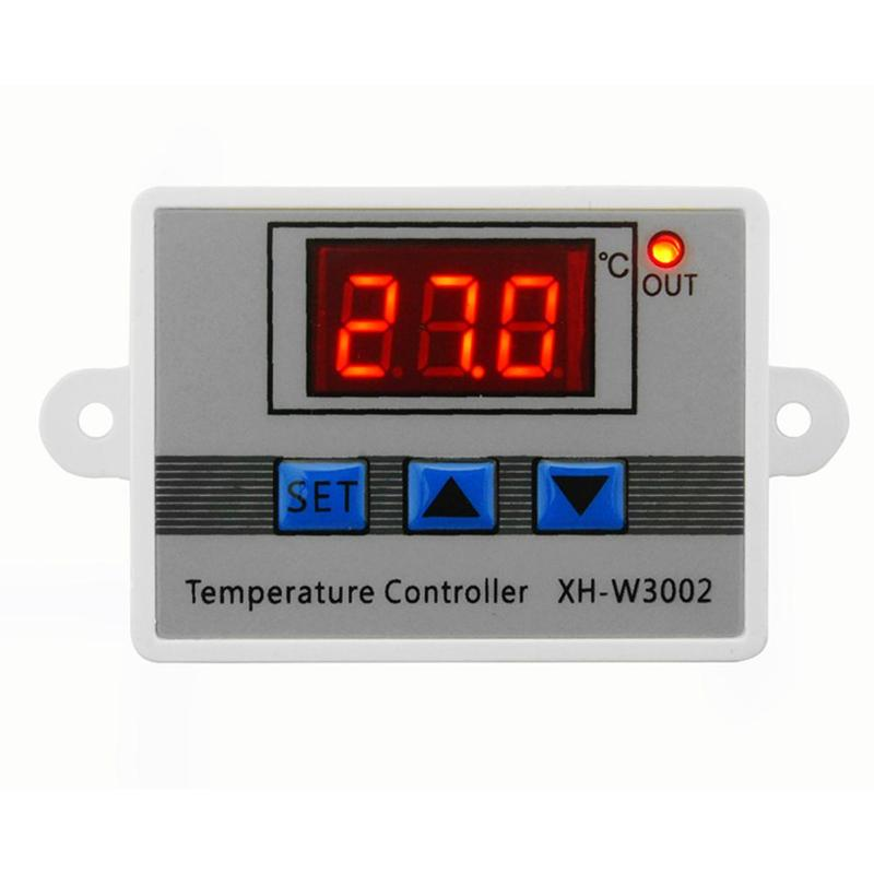 for Incubator Cooling Heating Switch Thermostat NTC Sensor Digital LED Temperature Controller with LCD Display 12V 24V 220VAC Thermostat with Rapid-Heat Technology