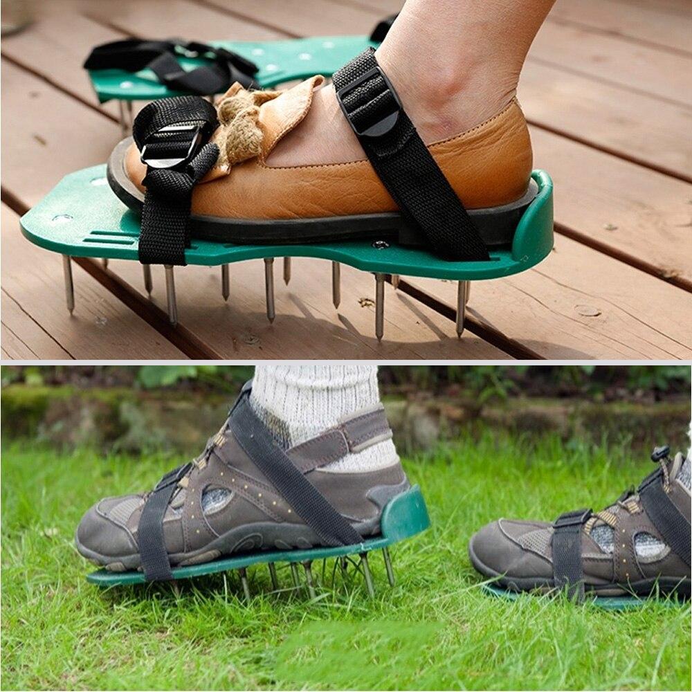 1 Paar Garten Hof Gras Grubber Scarification Rasen Belüfter Nagel Schuhe Werkzeug Weitere Rabatte üBerraschungen