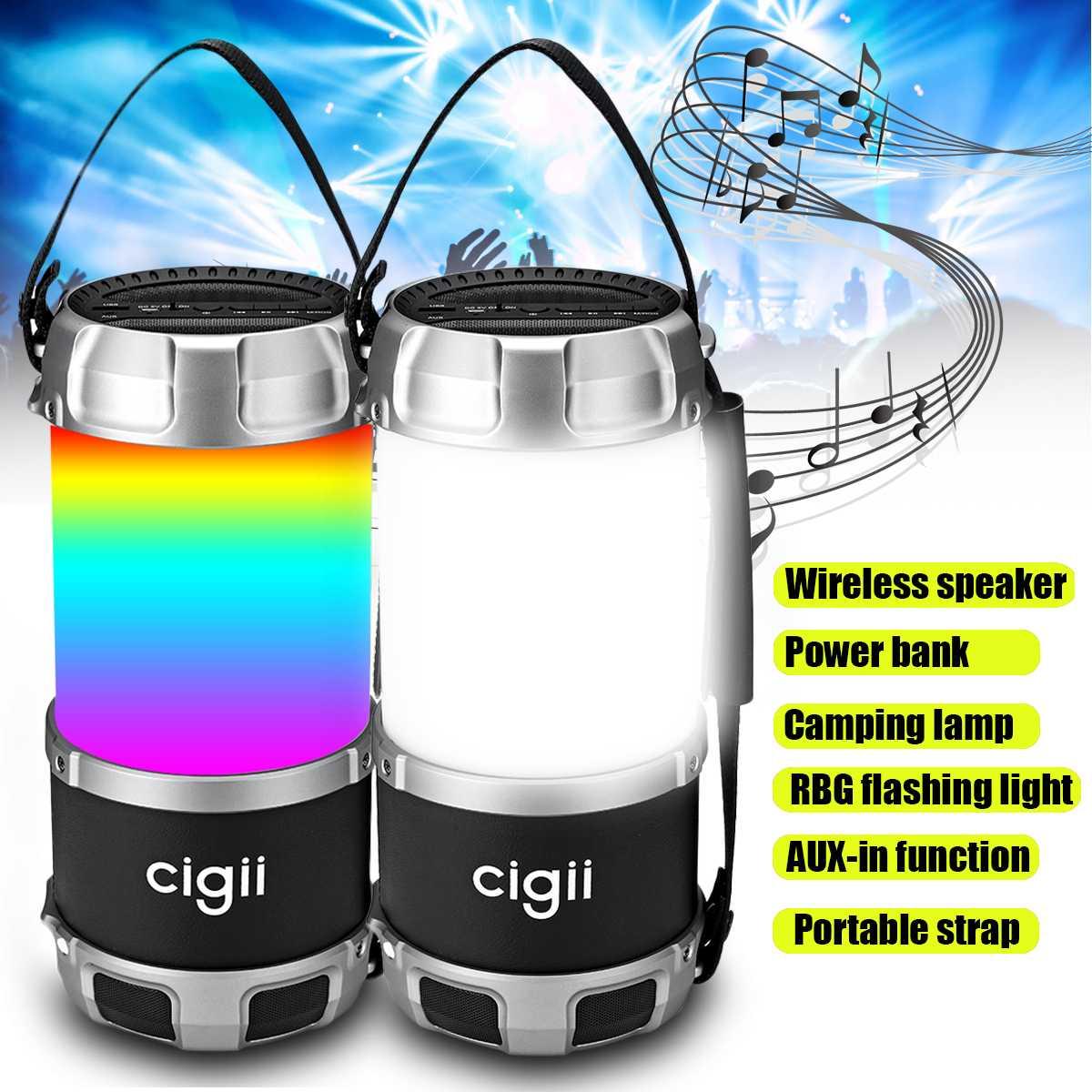 Haut-parleur bluetooth sans fil caisson de basses haut-parleur Portable altavoz bluetooth extérieur Camping batterie externe pour voyage AUX USB RGB lumière LED