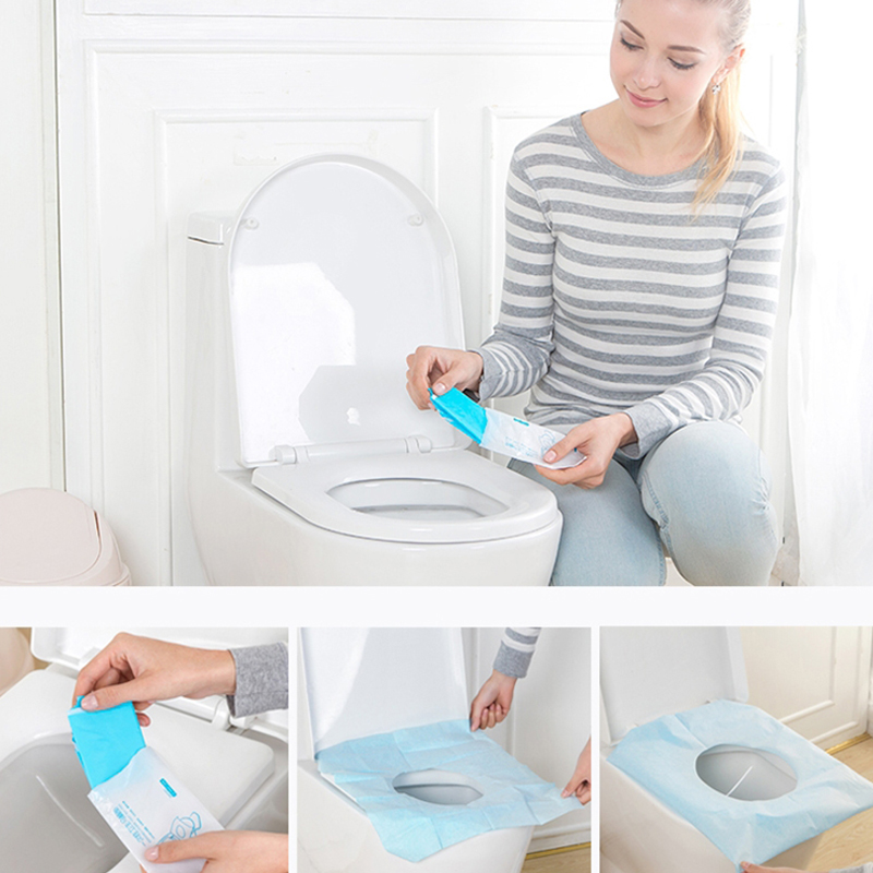 BUCHNIK Travel Disposable Toilet Seat Pats Waterproof  PE Covers Portable Paper Pad Trip Luggage Essentials Accessories Item