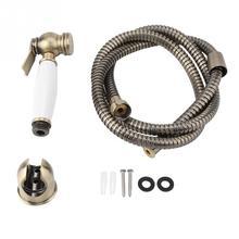 Bathroom Handheld Bidet Wall Mount Shower Toilet Bidet Sprayer Diaper Spray Sprayer Shattaf Kit Solid Brass Shower Faucet Set