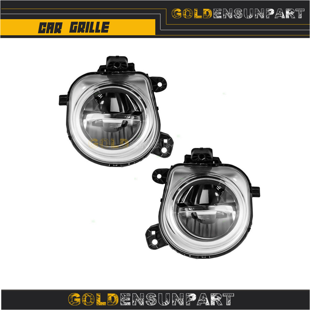 WarriorsArrow Pair Front Bumper Fog Light Lamp LED For BMW X3 F25 X4 F26 X5 F15 F85 X6 F16 2014-2016 63177317251 63177317252 image