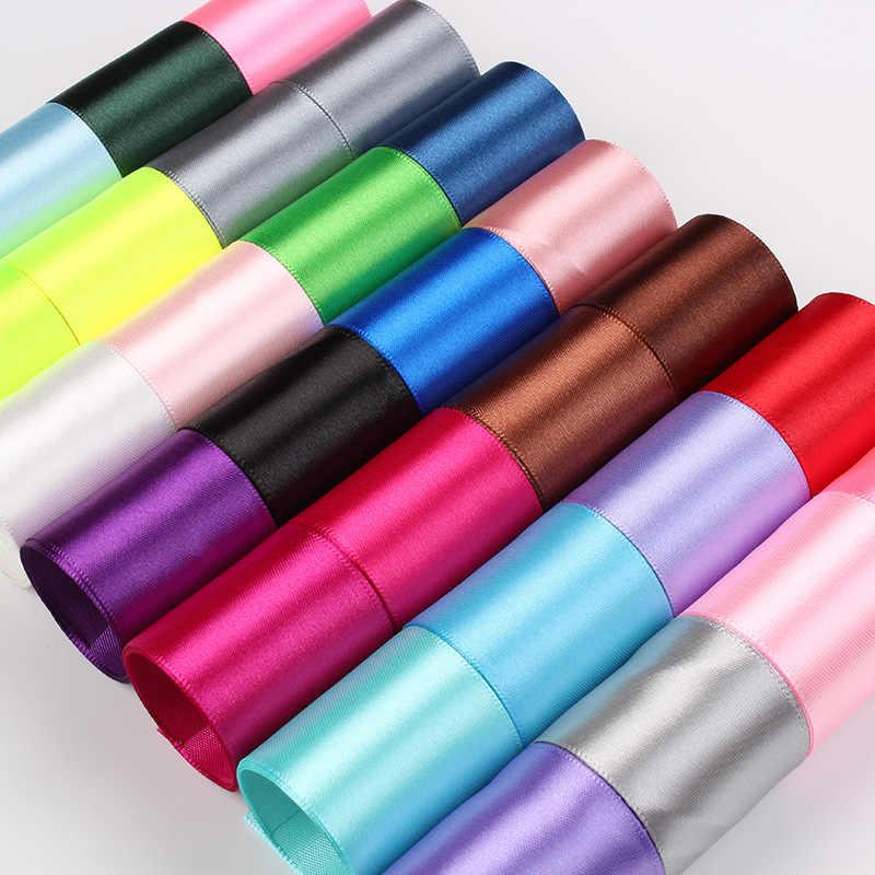 6 มม.1 ซม.1.5 ซม.2 ซม.2.5 ซม.4 ซม.5 ซม.ซาตินริบบิ้น DIY ประดิษฐ์ผ้าไหมกุหลาบหัตถกรรมอุปกรณ์เย็บผ้า Scrapbooking วัสดุ