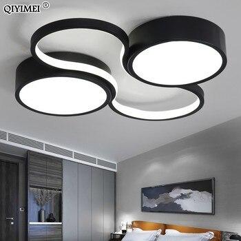 LED Chandeliers Light Modern Lamp Living Room Lighting art design Bedroom Kitchen Surface Mount Flush Panel Remote Control dero
