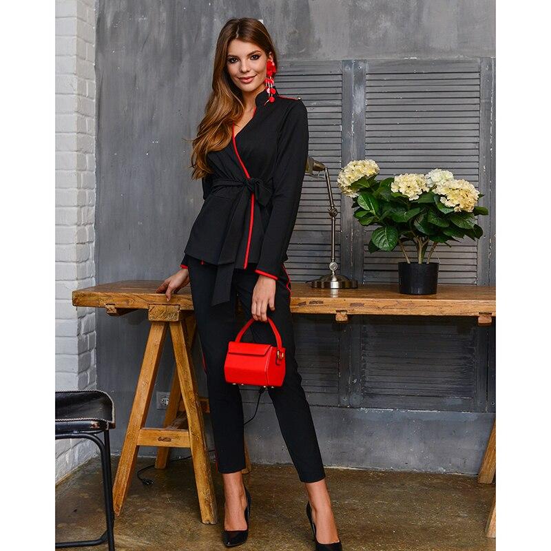 Suit pants For Women AVEMOD AV 666 fashionable racerback u neck top and yoga pants suit for women