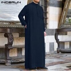 Мужская одежда халат с длинным рукавом Саудовская Арабский Тауб джубба ТОБ человек кафтан Ближний Восток исламский джубба ТОБ мусульманск...