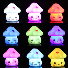 New Hot Colorful Mushroom Light Toy Children Night Color Protection Source