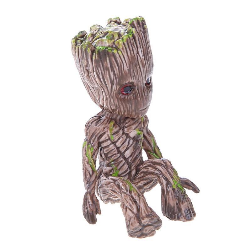 Image 5 - Baby Groot Flowerpot Flower Pot Planter Figurines Tree Man Cute Model Toy Pen Pot Garden Planter Flower Pot Gift for Kids-in Action & Toy Figures from Toys & Hobbies
