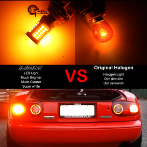 Image 5 - IJDM CANbus 1157 LEDไม่มีแฟลชHyper Flash 21W AmberสีเหลืองP21/5W BAY15dหลอดไฟLEDสำหรับไฟเลี้ยวไฟสัญญาณDRLเบรค/หางLigที่จอดรถ