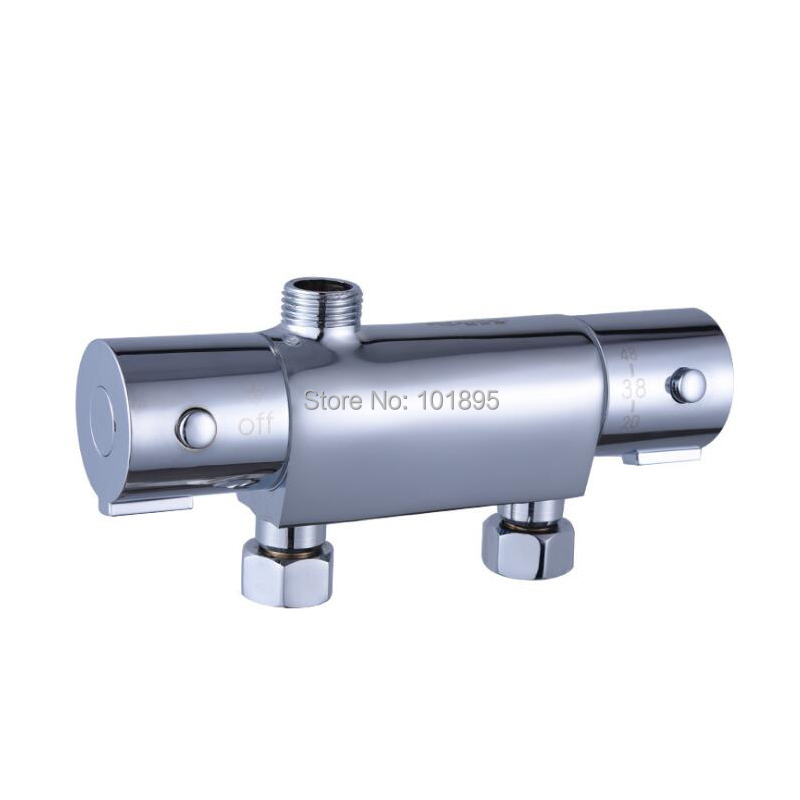 Chrome Plated Brass Material Solar Thermostatic Shower MixerChrome Plated Brass Material Solar Thermostatic Shower Mixer