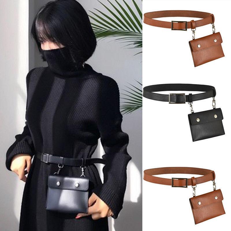 Womens Waist Belt Bag Mini Round Ring Envelope Shoulder Purse Phone Wallet Pouch
