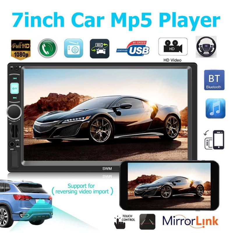2Din 7in SWM X4G Bluetooth Lossless Music Player Car Stereo GPS Navigation Head Unit Receiver Auto